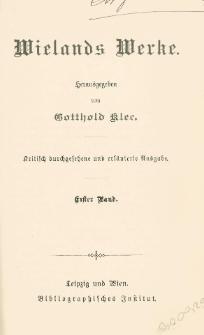 Wielands Werke. Bd. 1