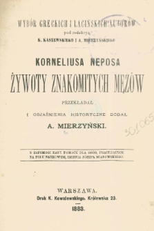 Korneliusza Neposa żywoty znakomitych mężów