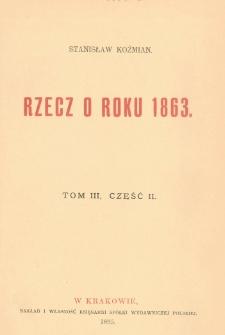 Rzecz o roku 1863. T. 3, cz. 2