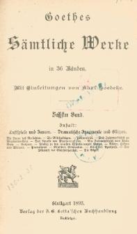 Goethes sämtliche Werke in 36 Bänden. Bd. 6