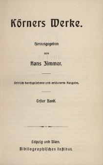 Körners Werke. Bd. 1