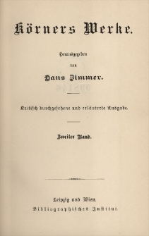 Körners Werke. Bd. 2