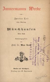 Münchhausen. Bd. 1