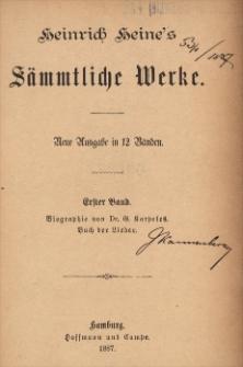 Heinrich Heine's Sämmtliche Werke : neue Ausgabe in 12 Bänden. [Bd. 1-3]