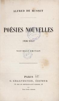 Poésies nouvelles : 1836-1852