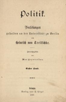 Politik : Vorlesungen gehalten an der Universität zu Berlin. Bd. 1