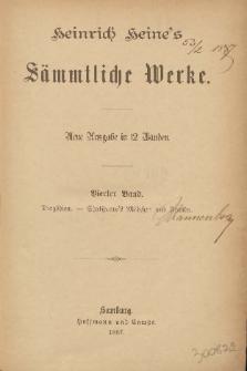 Heinrich Heine's Sämmtliche Werke : neue Ausgabe in 12 Bänden. Bd. 4