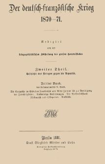 Der deutsch-französische Krieg 1870-71. T. 2 Bd. 3 Geschichte des Krieges gegen die Republik