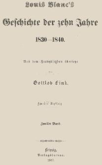Louis Blanc's Geschichte der zehn Jahre : 1830-1840. Bd. 2