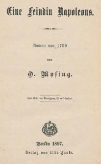 Eine Feindin Napoleons : Roman von 1799