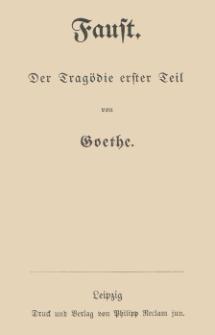 Faust : der Tragödie erster Teil