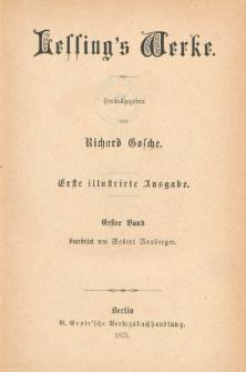 Lessing's Werke. Bd. 1