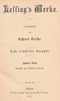 Lessing's Werke. Bd. 2