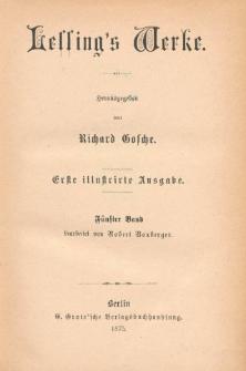 Lessing's Werke. Bd. 5
