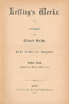 Lessing's Werke. Bd. 6
