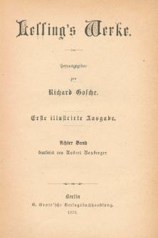 Lessing's Werke. Bd. 8