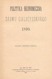 Polityka ekonomiczna Sejmu Galicyjskiego 1890