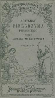 Artykuły Pielgrzyma Polskiego