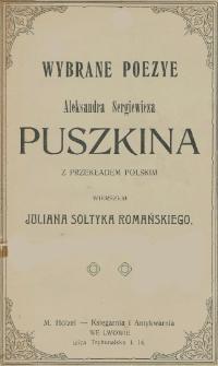Wybrane poezye Aleksandra Sergiewicza Puszkina