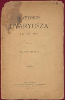 """O autorze """"Dyarusza"""" z lat 1696-1697"""