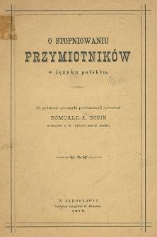 O stopniowaniu przymiotników w języku polskim