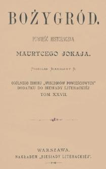 Bożygród : powieść historyczna