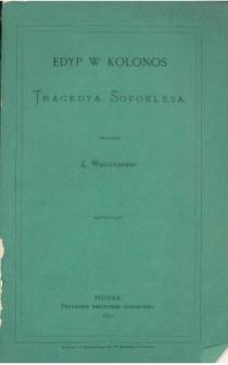 Edyp w Kolonos : tragedya Sofoklesa