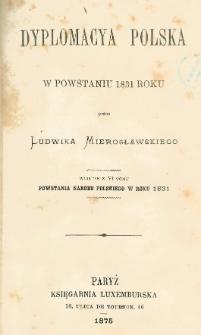Dyplomacya polska w powstaniu 1831 roku