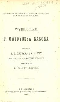 Wybór pism P. Owidyusza Nasona