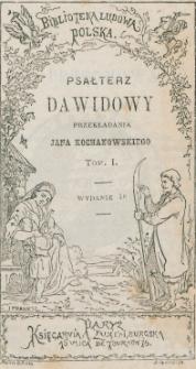 Psałterz Dawidowy. T. 1