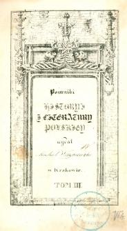 Pomniki historyi i literatury polskiey. T. 3