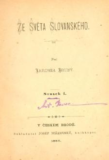 Ze svĕta slovanského. Sv.1
