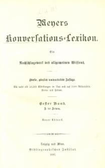 Meyers Konversations-Lexikon : ein Nachschlagewerk des allgemeinen Wissens. Bd. 1 : A bis Aslang