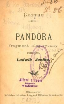 Pandora : fragment alegoryczny