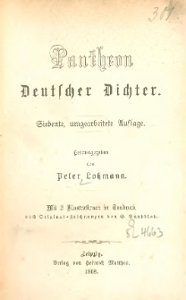 Pantheon deutscher Dichter