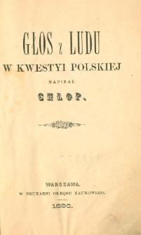 Głos z ludu w kwestyi polskiej