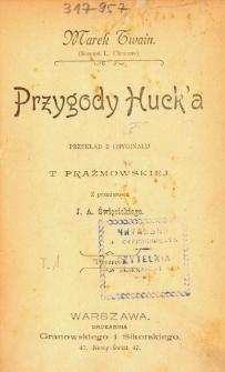 Przygody Huck'a. T. 1
