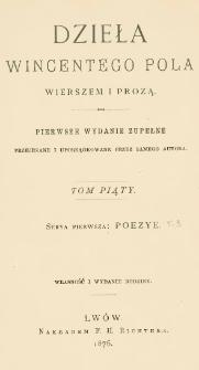 Poezye Wincentego Pola. T. 3