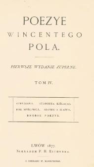 Poezye Wincentego Pola. T. 4