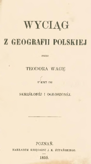 Wyciąg z geografii polskiej