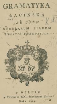 Gramatyka łacińska ad usum Scholarum Piarum