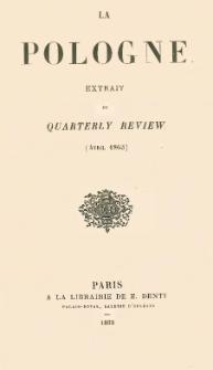 La Pologne : extrait du Quaterly Review (Avril 1863)