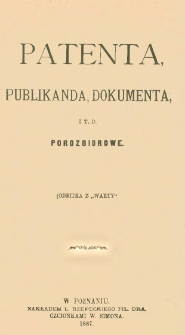 Patenta, publikanda, dokumenta, it.d. porozbiorowe