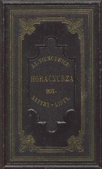 Horacyusza Ody Satyry i Listy