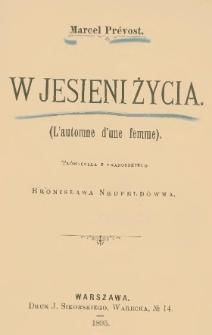 W jesieni życia = (L'automne d'une femme)