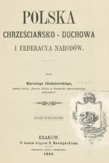 Polska chrześciańsko-duchowa i federacya narodów
