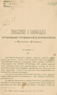Znaczenie i obowiązki większej własności ziemskiej w Królestwie Polskiem. 3, Środki (1)