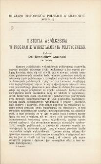 Historya współczesna w programie wykształcenia politycznego