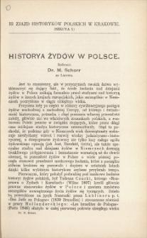 Historya Żydów w Polsce