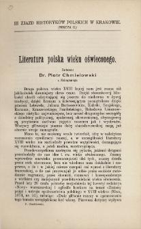 Literatura polska wieku oświeconego
